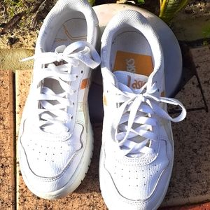 Asics white shoes almost new